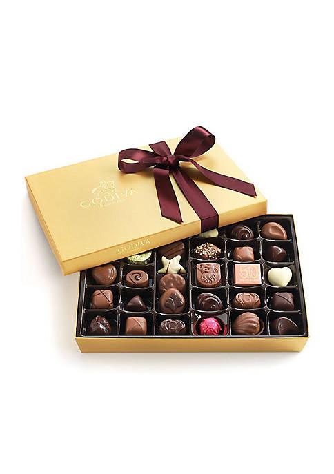 Chocolate Gift Box - Wine Ribbon, 36-Piece Set
