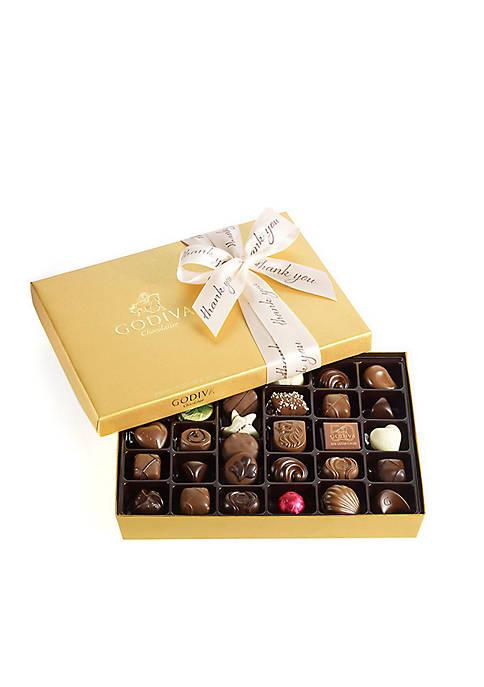 Chocolate Gift Box- Thank You Ribbon, 36-Piece Set