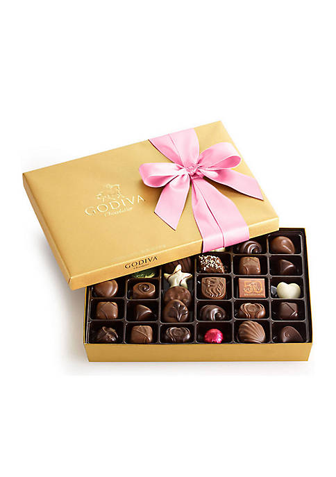 Godiva Chocolate Gift Box- Pink Ribbon, 36-Piece Set