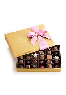 Godiva Chocolate Gift Box- Pink Ribbon, 36-Piece Set