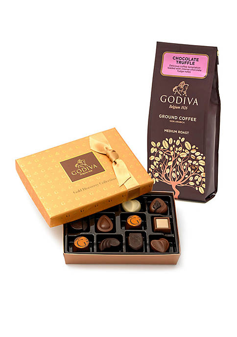 Godiva 12-Piece Gold Discovery Box- Chocolate Coffee Truffle