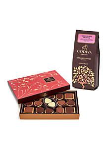 Godiva Truffle Coffee 10-oz. Chocolate Biscuit Box- 32 piece set
