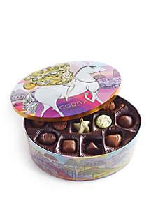 Godiva Chocolatier Limited Edition Lady Godiva Assorted Chocolate and Truffle Keepsake Tin