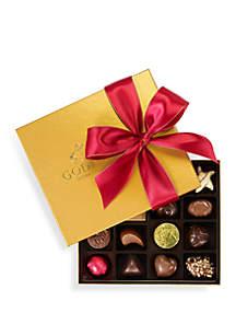 Chocolatier Holiday Gold Ballotin Gift Box