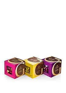 Godiva Chocolatier Milk, Dark and Vanilla Chocolate G Cube Boxes