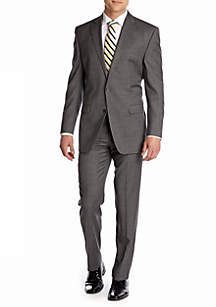 Chaps Classic Fit Gray Sharkskin Suit Separates