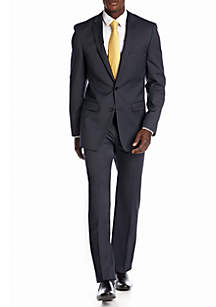 DKNY Slim Fit Navy Mini Stripe Suit Separates