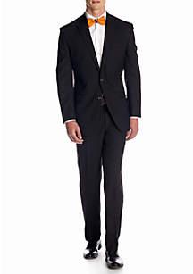 Chaps Classic Fit Black Herringbone Suit Separates