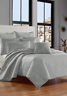 J Queen New York Glacier Velvet Quilt Bedding Collection