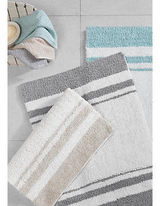 Madison Park Spa Cotton Reversible Bath, Reversible Bathroom Rugs