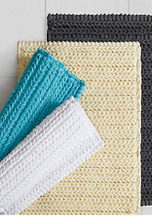 Madison Park Lasso Yarn Dyed Cotton Bath Rug Collection