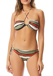 Vince Camuto Tidal Stripe Swim Collection