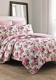 Laura Ashley Lidia Multi Pink Quilt Set