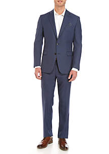 Lauren Ralph Lauren Blue Tic Suit Separate Collection