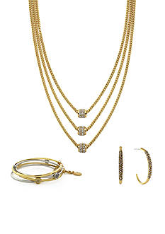 Jessica Simpson Gold Sparkle Jewelry Collection