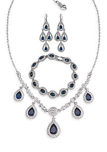 Carolee Carolee Simply Blue Crystal Jewelry Collection