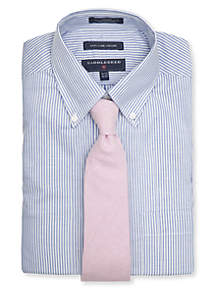 Saddlebred® Saddlebred® Classic Fit Dress Shirt and Oxford Solid Tie