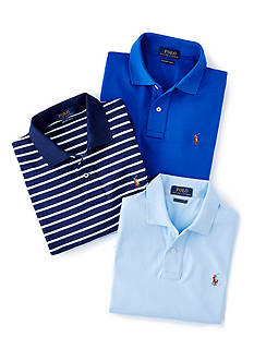 Polo Ralph Lauren Pima Soft-Touch Polo Shirt & Striped Pima Soft-Touch Polo Shirt