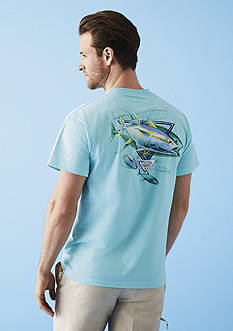 Columbia PFG Classic Tuna Graphic Tee & Washed Out Shorts