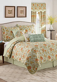 Waverly Felicite Persimmon Quilt Collection