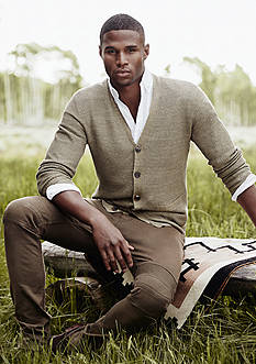 Polo Ralph Lauren Linen-Silk V-Neck Cardigan, Stretch Moto Jeans &  Garment-Dyed Cotton Shirt Collection