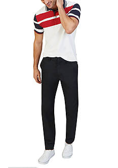 Nautica Classic-Fit Block Stripe Polo Shirt & Slim Fit Marina Pants Collection