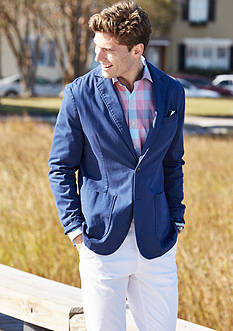 Crown & Ivy™ Stretch Sateen Blazer, Long Sleeve Stretch Non-Iron Button Down Shirt & Stretch Chino Pants Collection