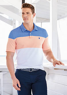 IZOD Colorblock Oxford Short Sleeve Shirt & Flat Front Saltwater Shorts Collections