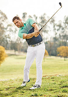 Under Armour® CoolSwitch Upright Stripe Polo Shirt & Solid Matchplay Pants Collection