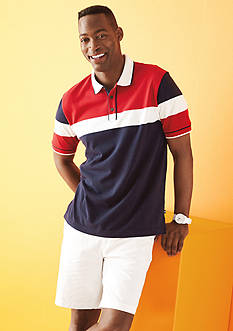 Nautica Classic-Fit Colorblock Polo Shirt & Classic-Fit Deck Shorts Collection