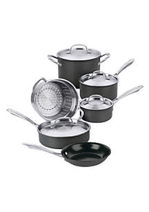 Green Gourmet 10 Pc. Hard Anodized Nonstick Cookware Set