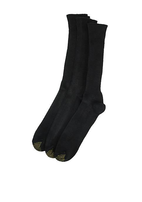 Gold Toe® Big & Tall Fluffies 3 Pk