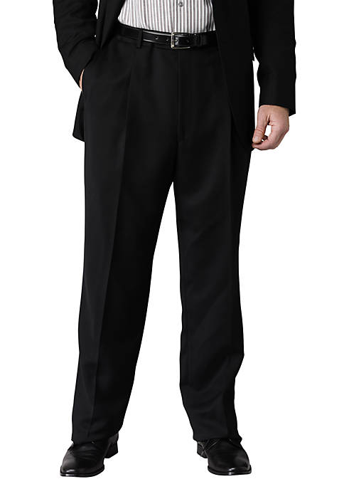Geoffrey Beene Slim Fit Suit Separate Pleated Pants (Black)