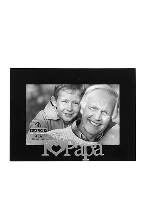 Malden I Love Papa 4x6 Frame