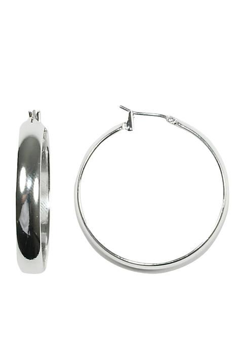 Silver-Tone Hoop Earring