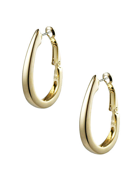 Napier Gold Hoop Pierced Earrings