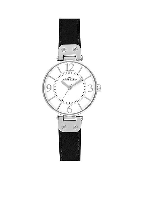 Anne Klein Silver-Tone Round Case Watch