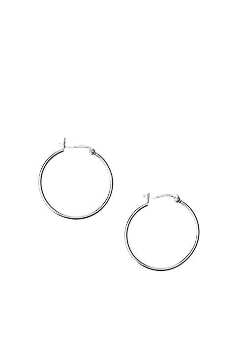 Belk Silverworks Medium Tube Hoop Earrings
