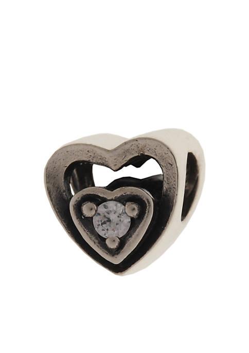 Heart Frame Cubic Zirconia Originality Bead