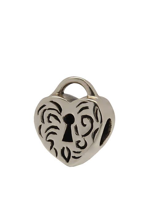 Belk Silverworks Heart Lock Originality Bead