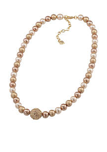 Gold-Tone Standard Strand Necklace