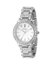 Fossil® Ladies Mid size Round Silver Bracelet
