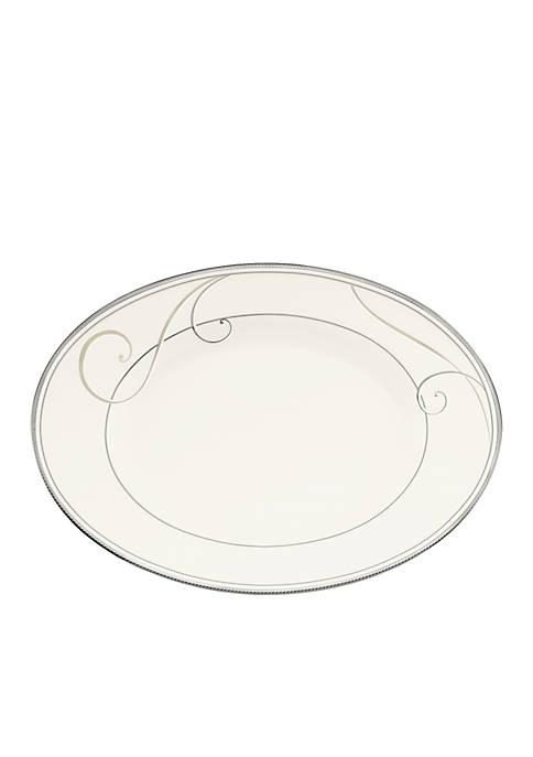 Noritake Platinum Wave Dinnerware Oval Platter