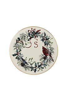 Winter Greetings Salad Plate