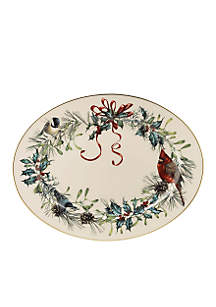 Winter Greetings Oval Platter