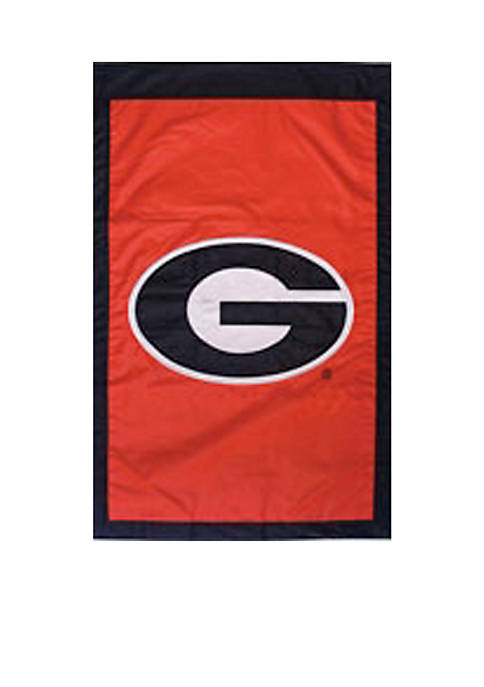 Evergreen Georgia Bulldogs House Flag