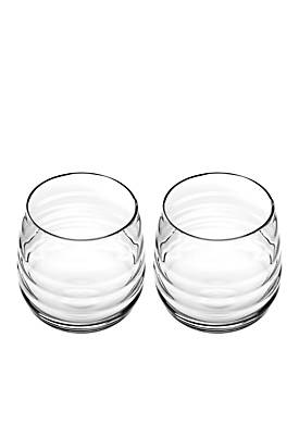 Set of 2 Double Old Fashion Glasses