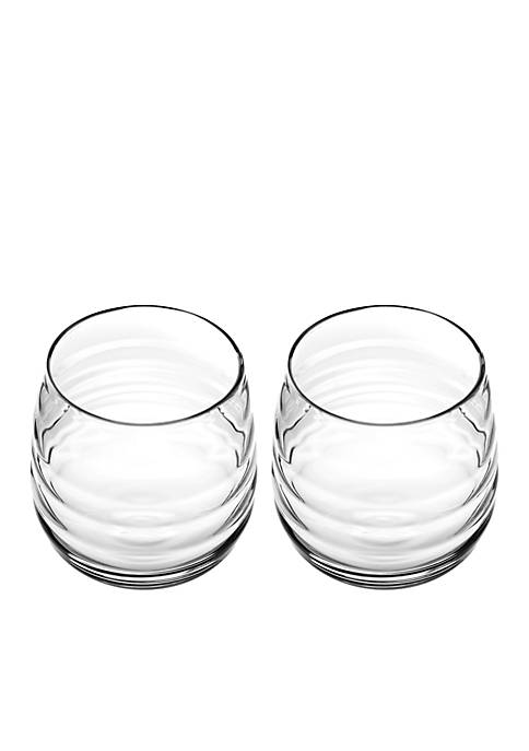 Portmeirion Set of 2 Double Old Fashion Glasses