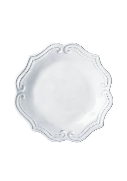 Vietri Incanto White Baroque Salad Plate