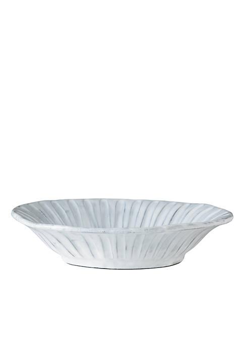 Vietri Incanto White Stripe Bowl
